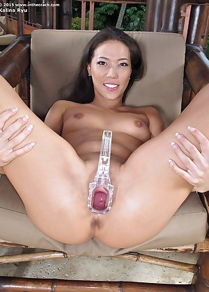 Model Kalina Ryu , IntheCrack Pussy Closeup Gold collection clit photos #14